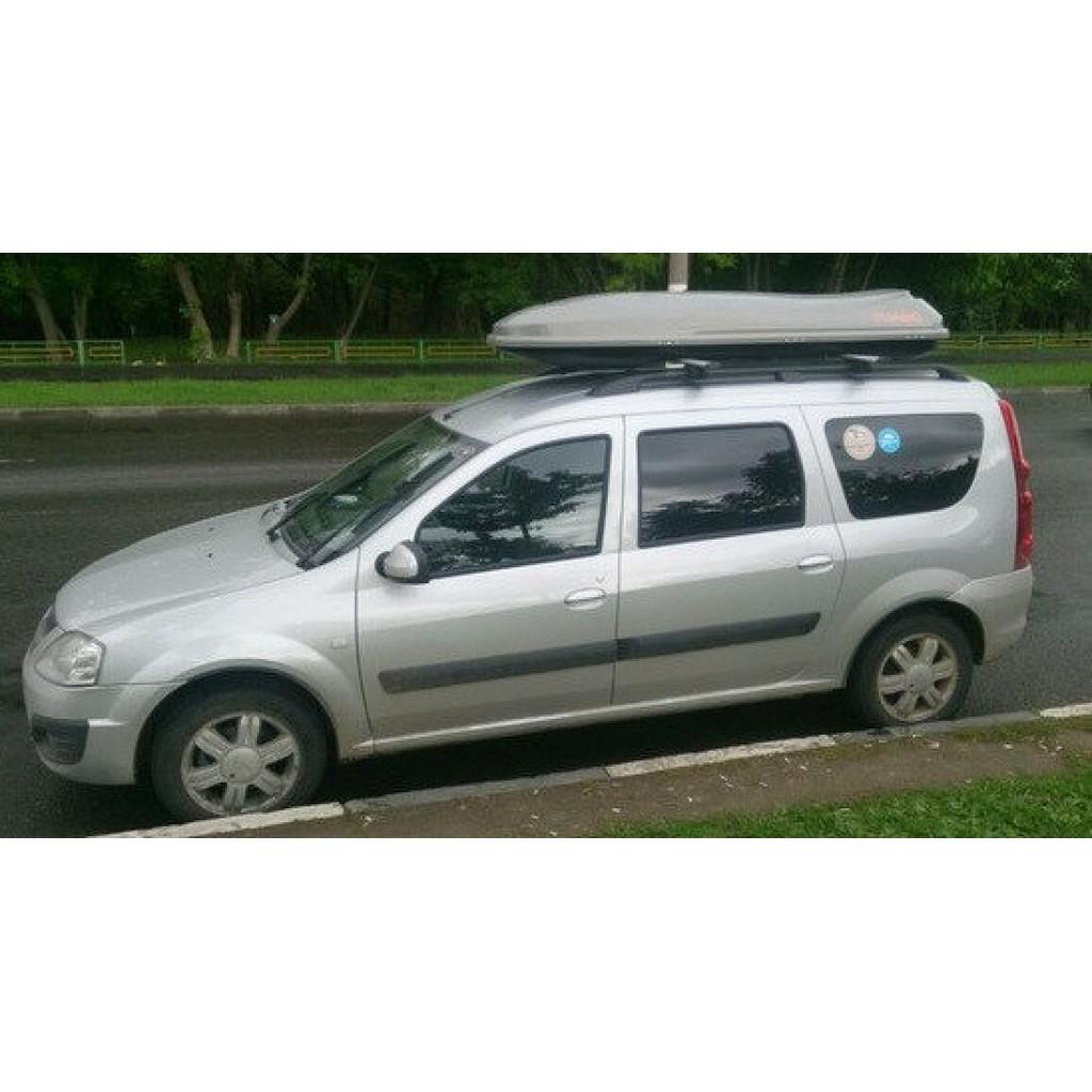 Автобокс COSMO (485 л.) (Багажник-Бокс на крышу) серый,белый,черный